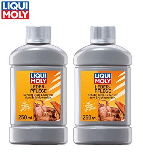 PRAKTISCHES SET! 2 x 250 ml LIQUI MOLY LEDERPFLEGE Leder-Pflege Lederreiniger Lederschutz für Auto Motorrad Haushalt UNIVERSAL