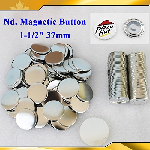 Asc365 100sets Nd. Magnetic 1-1/2'' 37mm Magnet Parts Supplies for Maker Machine by Button Maker