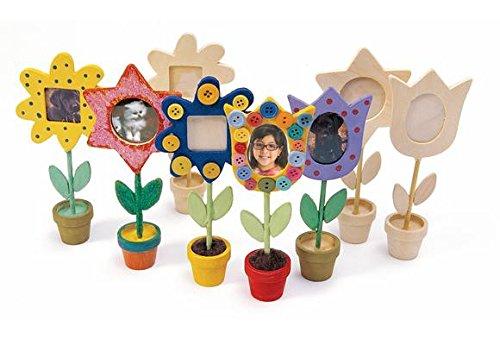 Colorations Wooden Flower Pot Frames - Set of 12 (Item # FLFRM) Mothers Day Flower Pots