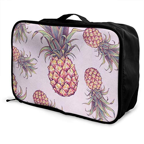 Lightweight Large Capacity Portable Luggage Bag Summer Pineapple Foldable Storage Carry - Hpi Carrying Bag