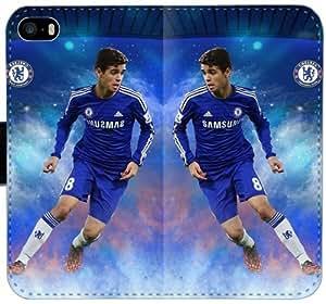 Oscar Dos Santos Chelsea Fc Y7O5L Funda iPhone 5 5S 5SE caja de cuero funda funda 4782pa caso único solapa del teléfono celular barato