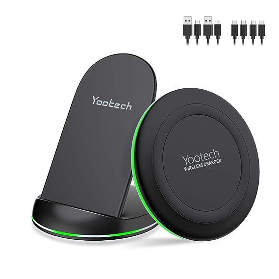 Amazon.com: Yootech cargador inalámbrico, [2 unidades] Qi ...