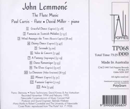Lemmone John: Flute Works by 101 DISTRIBUTION