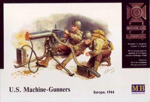 1/35 米 マシンガンクルー2体M1917A1ブローニング重機 (1 35 Masterbox)