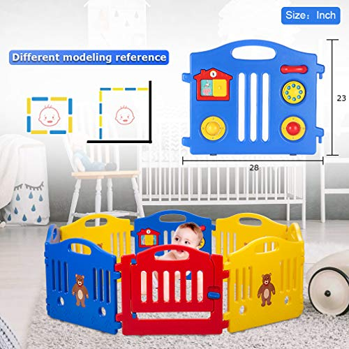 Baby Playards Baby Playpen Kids 10 Panel Safety Play Center Yard Home Indoor Outdoor Pen by FDW