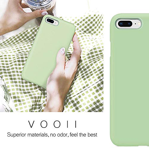 Vooii iPhone 8 Plus Case, iPhone 7 Plus Case, Soft Silicone Gel Rubber Bumper Case Microfiber Lining Hard Shell…