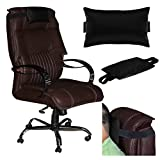 Acm Leather Cushion Pillow Head & Neck Rest for Study Chair Black
