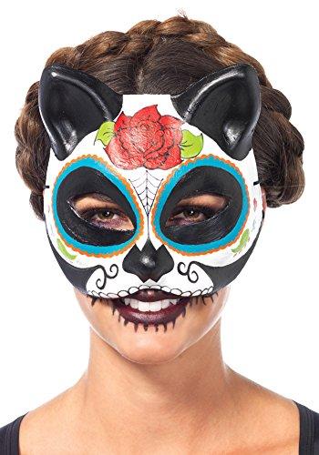 Sugar Skull Masks (Sugar Skull Cat Mask Costume Accessory)