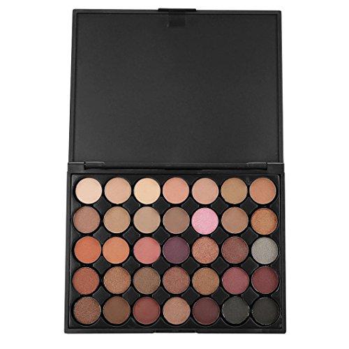 35 Colors Eyeshadow Palette, Staron Makeup Shimmer Glitter E
