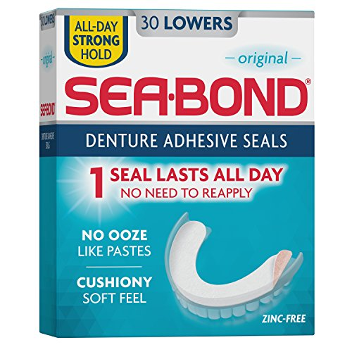 Sea Bond Secure Denture Adhesive Seals  Original Lowers  30 Count