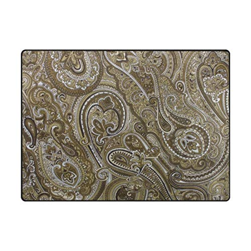 4004 Area Rug - Play Mat for Kids - Super Soft Modern Paisley Area Rugs Living Room Carpet Bedroom Rug for Children Play Solid Home Decorator Floor Rug and Carpets - Baby Mats for Playing/Crawling - 4' x 6'