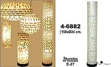 SuskaRegalos-LAMPARA DE PIE FIBRA/NACAR 150CM: Amazon.es: Hogar