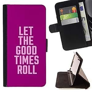 Momo Phone Case / Flip Funda de Cuero Case Cover - Collège Spring Party texte Pause - Samsung Galaxy Core Prime