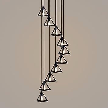 Estilo LIChandelier BAJIAN-Escalera doble de luz industrial escalera loft vintage candelabros de hierro forjado candelabro escaleras largas,50 * 200cm.: Amazon.es: Bricolaje y herramientas