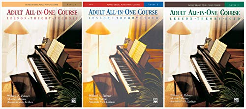 Alfred's Basic Adult Piano Course: Adult All-in-One Course Books Set (3 Books) - Level 1, 2, 3 ()
