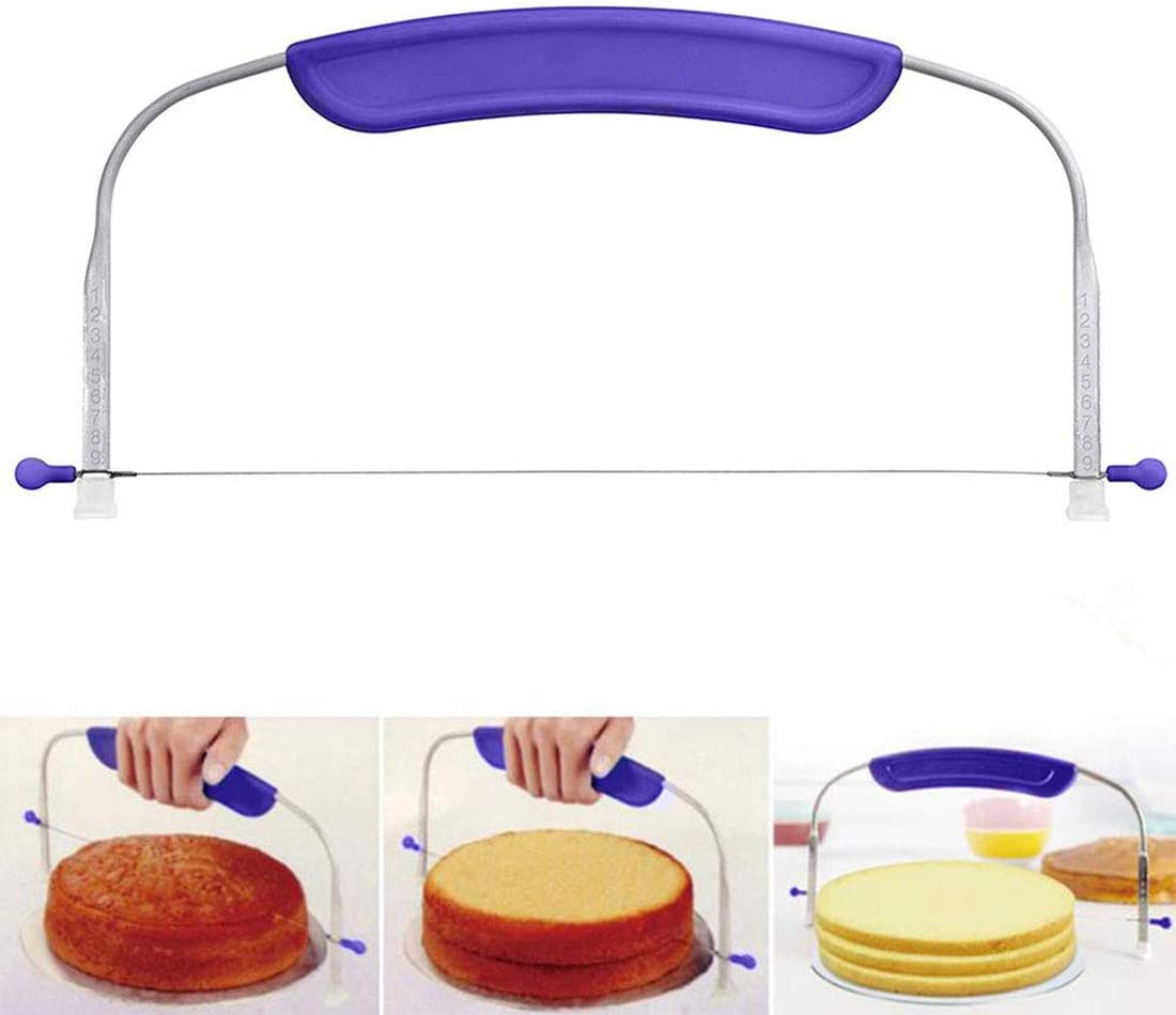 Cake Slicer Wire Tools Decor Stainless Steel Cutter Bread Adjustable Home Baker