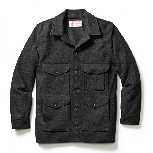 Filson10044 Extra Long Wool Mackinaw Cruiser (42, Charcoal)