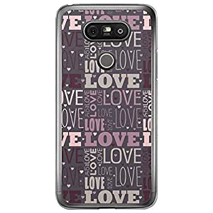 Loud Universe LG G5 Love Valentine Printing Files Valentine 180 Printed Transparent Edge Case - Purple