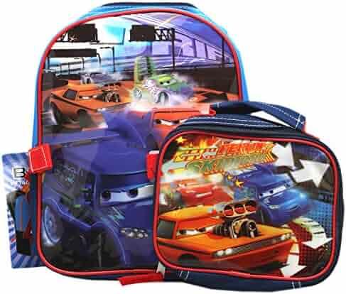 72cd1b9c7e0 Disney Pixar s Cars Drifting McQueen Vinyl Front Mini Toddler Backpack  (10in)