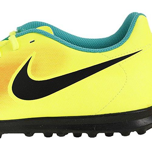 Nike Magistax Ola Ii Tf, Botas de Fútbol para Hombre Amarillo (Volt / Black-Total Orange-Clear Jade)