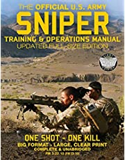 """The Official US Army Sniper Training and Operations Manual: Full Size Edition: The Most Authoritative & Comprehensive Long-Range Combat Shooter's Book in the World: 450+ Pages, Big 8.5"""" x 11"""" Size (FM 3-22.10 / FM 23-10 / TC 3-22.10)"""
