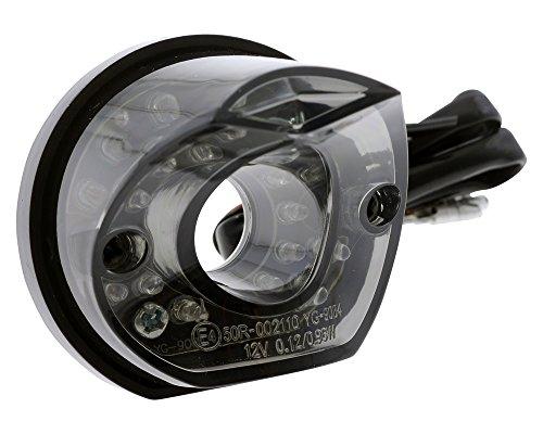 Rücklicht LED Motorrad, Quad, Roller MADISON, bogenförmiges getöntes Glas