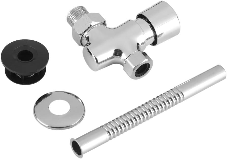 Famus Válvula de Descarga del Orinal del Inodoro Tipo de botón Retraso Manual Apagado automático