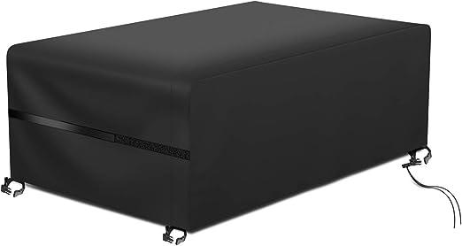 RATEL Protectora para Muebles de jardín, Funda para Muebles de Jardín Exterior Impermeable a Prueba de Viento Paño Oxford 420D Cubierta de Mesa Patio para Muebles Grandes(180X120X74cm): Amazon.es: Jardín
