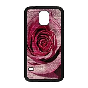 Vintage Flower Watercolor Use Your Own Image Phone Case for SamSung Galaxy S5 I9600,customized case cover ygtg585818