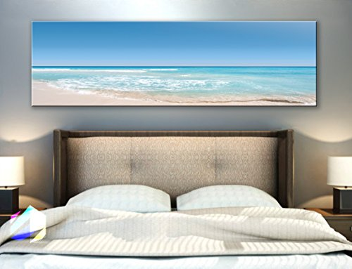 Original by BoxColors Single panel 3 Size Options Art Canvas Print Nature beach tropical ocean seascape sea relax sunset Wall Home Office decor (framed 1.5