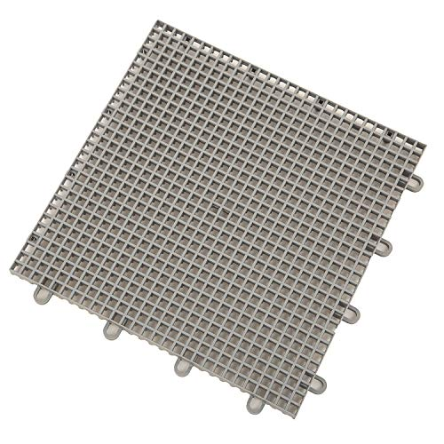 IncStores Outdoor Patio Interlocking Rugged Grip-Loc Tiles - 25 Pack - Grey