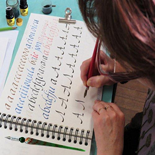 Daveliou-Calligraphy-Pen-Set-12-Piece-Kit-FREE-Glass-Pen-5-Nib-5-Ink-Set