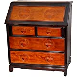 Oriental Furniture Rosewood Classic Writing Desk - Two-tone