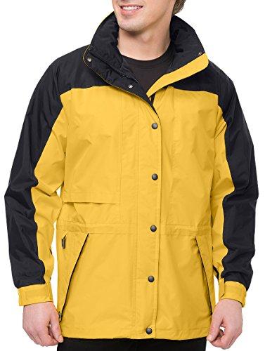 Nylon Parka - Premium Quality Men's Tall Sizes 100% Toughlan Nylon Parka Climax Jacket - Yellow Gold/Black, 5XLT