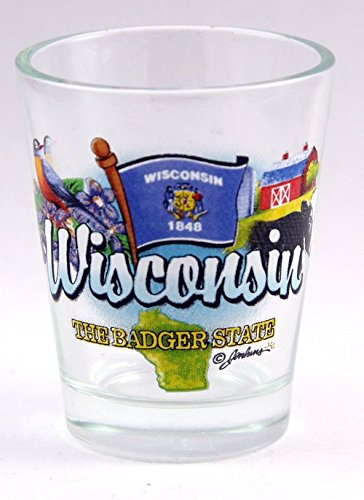 (Wisconsin Badger State Elements Shot Glass)