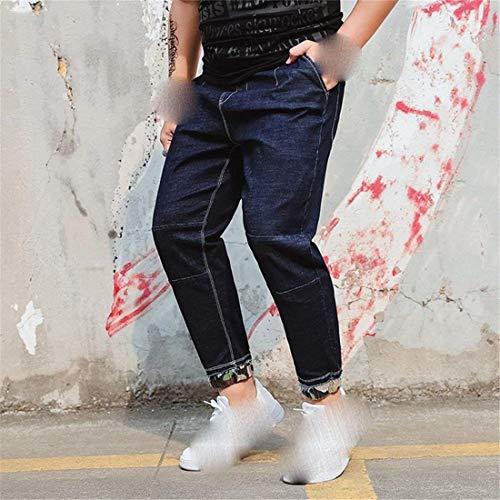 Sueltos E Hombres Pantalones Laisla fashion Hombres Men Stazsx Clásico Pantalones Pantalones Verano Ufige Men Primavera Y E Cintura Blau Chicos Jeans Elásticos 0q8YBHFq