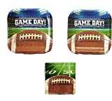 Game Day! Football Tailgate Party Plates (16) and Napkins (16)