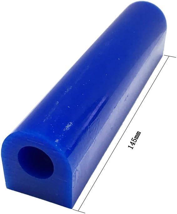 Tubo de cera para tallar anillos de Cnmade grande y de color azul 4 unidades azul tubo para hacer molde duro de cera de anillos con lado plano