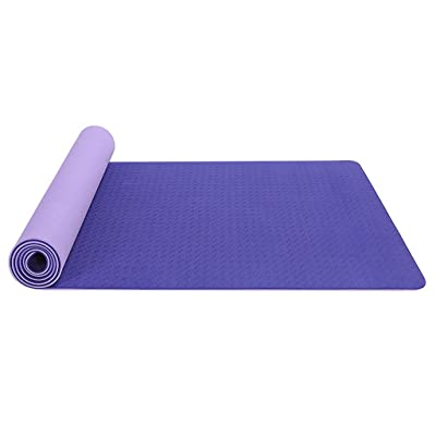 Yoga Mat for Home/Gym,Classic Pro Yoga Mat TPE Eco Friendly Non Slip Fitness Exercise Mat: Clothing