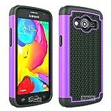 8gtech Purple Heavy Duty Hybrid Hard Silicone Case Cover For Samsung Galaxy Core LTE SM-G386W G386F +Screen Protector