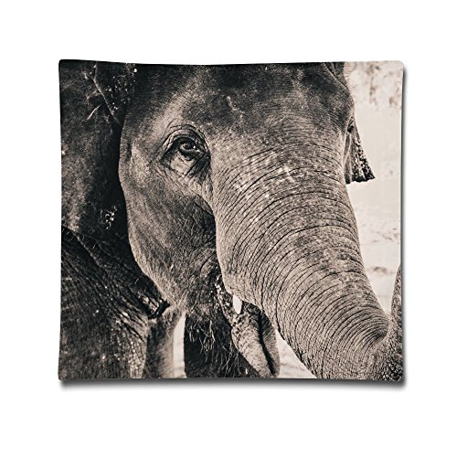Kjaoi 1818 Inches Pillow Case Sand Elephant Comfortable Soft Bed Pillow Case Household Pillow Case Office -