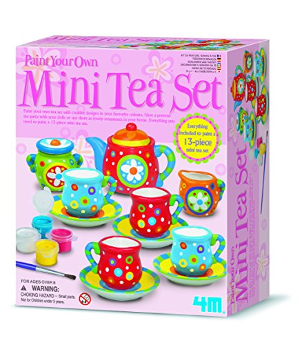 4M - Paint Your Own Mini Tea Set, Juego de Creatividad (004M4541)