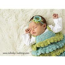 Ruffle Shirt and Rose Headband Set Crochet Pattern