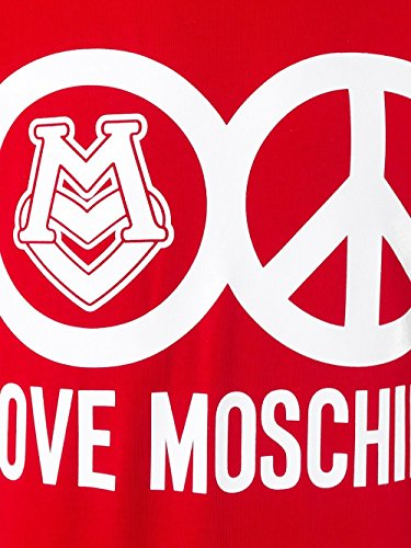 MOSCHINO Love Peace Circle Logo T-Shirt, Red (XL) by MOSCHINO (Image #3)