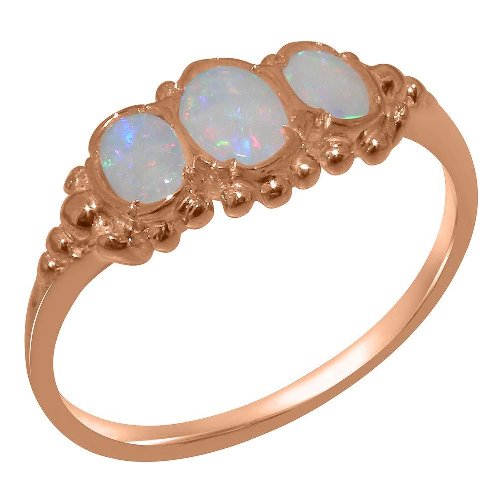英国製(イギリス製) K14 ピンクゴールド 天然 オパール レディース リング 指輪 各種 サイズ あり 8.5  B07STF4BFF