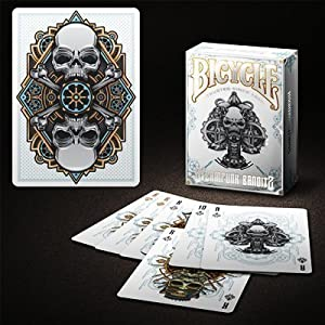 Bicycle Steampunk Deck (White) by Gambler's Warehouse- Trick