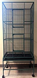 Extra Large Tall Wrought Iron Flight Canary Parakeet Cockatiel Lovebird Finch Sugar Glider Cage 30\
