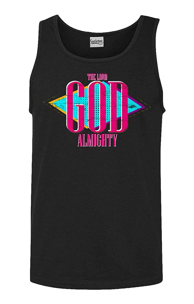 Societee The Lord God Almighty Religious Mens Tank Top