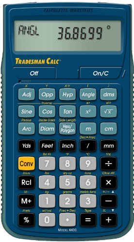 Calculated Industries 4400 Tradesman Calc Trades Math and Co