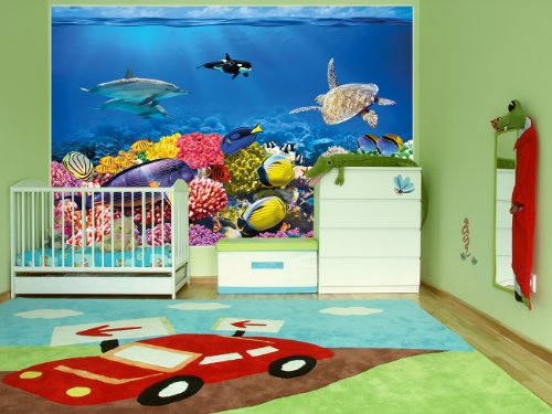 great art wall decoration undersea coral reef photo. Black Bedroom Furniture Sets. Home Design Ideas
